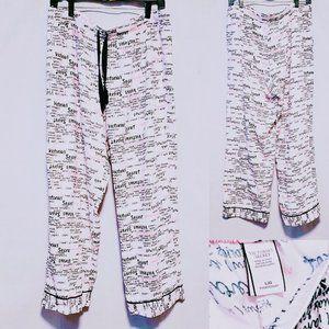 💕Victoria's Secret Script Print PJ Pants size L